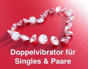 Doppelvibrator für Singles und Paare